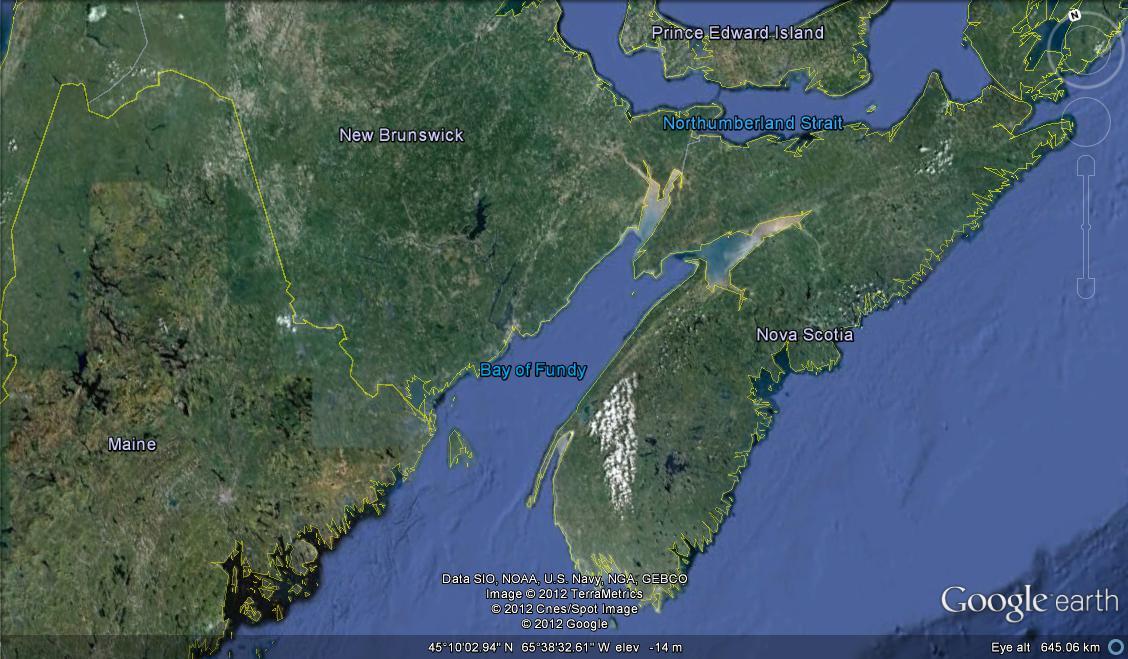 Shark Bay Map Bay of Fundy Sharks